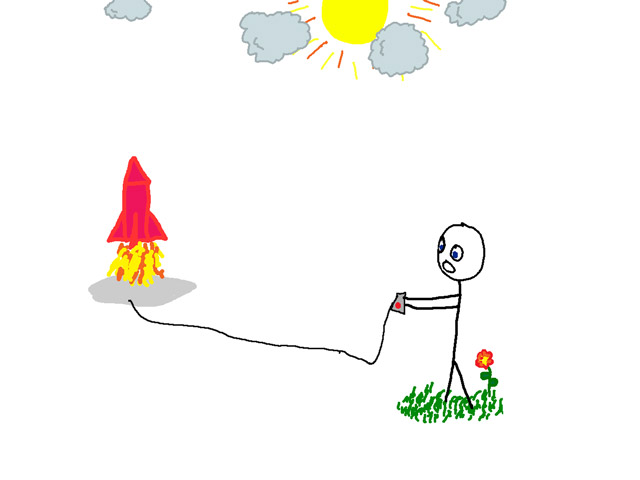 Me launching a rocket.